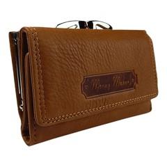 Dámská kožená peněženka Money Maker hnědá 5286
