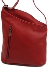 Vera pelle kabelka červená kožená K024