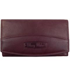 Dámská kožená peněženka Money Maker 12131-bordo