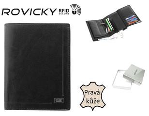 Pánská kožená peněženka Rovicky RFID SECURE PC-104-BAR