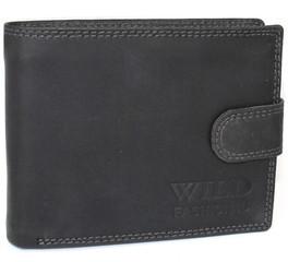 WILD FASHION4U pánská kožená peněženka H5700L-BL