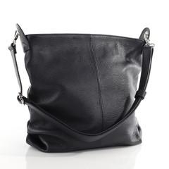 Made in Italy dámská italská kožená černá kabelka přes rameno crossbody