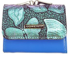 Lorenti Dámská kožená peněženka stříbrná 55287-NBF SILVER BLUE