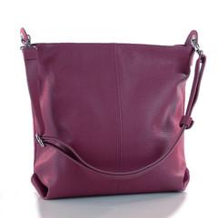 Dámská kožená kabelka přes rameno crossbody Made in Italy bordó