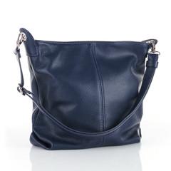 Made in Italy dámská kabelka kožená tmavě modrá Catania