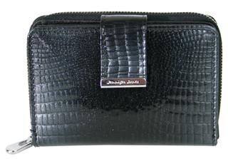 Jennifer Jones dámská peněženka černá kožená luxusní lakovaná 5198