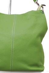 Dámská Kožená Kabelka Přes Rameno zelená Made in Italy