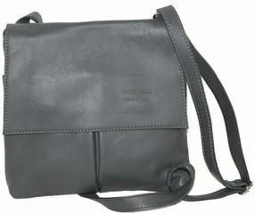 Vera pelle kabelka kožená crossbody malá tmavě šedá