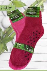 Pesail dámské bambusové ponožky protiskluzové,vysoké, barevné, 2 páry