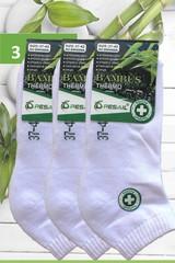 Pesail dámské bambusové termo ponožky kotníkové bílé 3 páry