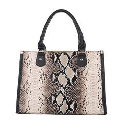 Dámská kabelka do ruky hnědo černá