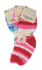 Ellasun ponožky dámské termo bavlněné 3 páry, růžové, červené, modré
