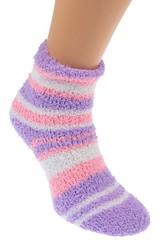 Ellasun ponožky dámské termo bavlněné 3, páry fialová, růžová, černá