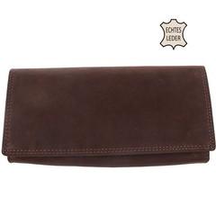 Dámská kožená velká peněženka hnědá Galanto