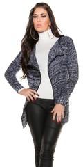Koucla dámský pletený svetr kartigan dlouhý černý, šedý