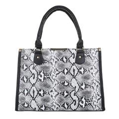 Dámská kabelka do ruky černobílá