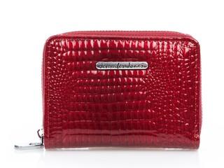 Malá Dámská Kožená Peněženka Červená Jennifer Jones 5248
