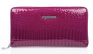 Velká Dámská Kožená Peněženka na zip Jennifer Jones fialová 5247-2