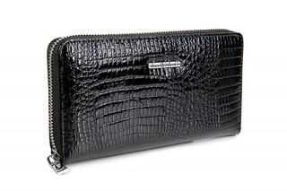 Velká Dámská Kožená Peněženka na zip Jennifer Jones černá 5247