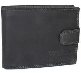WILD FASHION4U pánská kožená peněženka WF5601L-BL