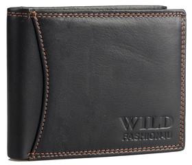 Pánská Kožená Peněženka Černá WF5600-BL