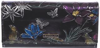 Dámská velká černá peněženka 3D efekt Cavaldi PN24-BFP