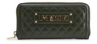 Dámská Luxusní Velká Peněženka Love Moschino Zelená JC5600PP18LA