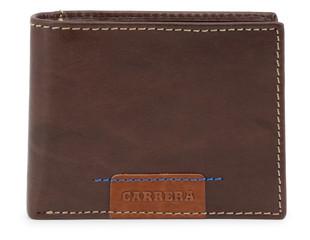 Pánská Stylová Peněženka Carrera Jeans Hnědá CB1862B