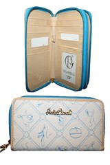 Dámská Velká Peněženka na zip Modrá Giulia Pieralli M186/02A -blue