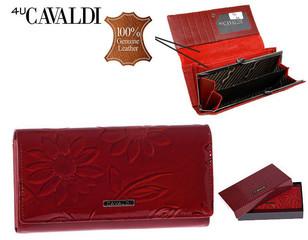 Dámská Velká Červená Peněženka Cavaldi PN24-SFS