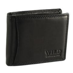 Pánská Kožená Peněženka Černá C-5600-BL