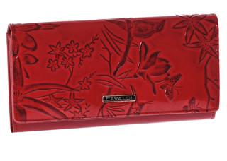 Dámská Velká Červená Peněženka Cavaldi PN20-BB