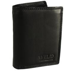 Pánská Kožená Peněženka Černá C-306-Z-BL