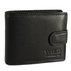 Pánská Kožená Peněženka Černá C-305-L-BL