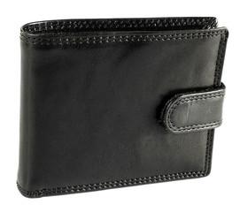 Pánská černá kožená peněženka EuroFashion4u 5700-L-BL