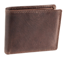 Pánská hnědá kožená peněženka EuroFashion4u 5700-D.BRN