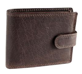 Pánská kožená peněženka hnědá EuroFashion4u 5700-L-D.BRN