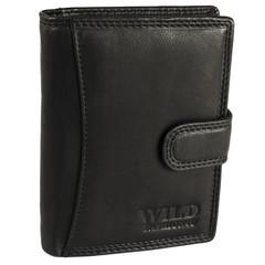 Pánská Kožená Peněženka Černá C-5500-L-BL