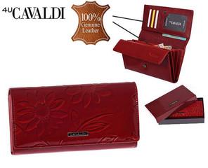 Dámská Velká Červená Peněženka Cavaldi PN22-SFS