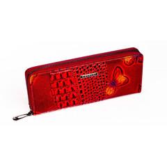 Dámská Velká Červená Peněženka na zip Cavaldi PN25-BFC