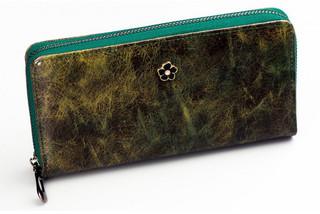 Dámská Velká Zelená Peněženka na zip Cavaldi PX25-3