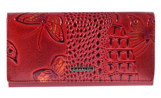 Dámská Velká Červená Peněženka Cavaldi PN26-BFC
