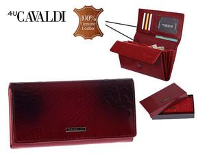 Dámská Velká Červená Peněženka Cavaldi PN22-RSP