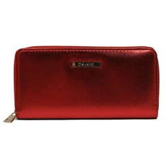 Dámská velká peněženka na zip červená Cavaldi YYXB-08