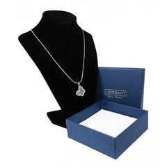 Stříbrný náhrdelník s přívěskem motýla Lorenti 20