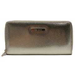 Dámská velká peněženka na zip zlatá Cavaldi YYXB-08