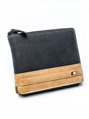 Pánská černá hnědá kožená peněženka ALWAYS WILD RFID N992Z-R-MHD BLACK/TAN