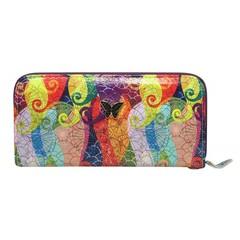 Dámská velká peněženka na zip 1105-multicolor