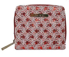Dámská Peněženka na zip červená a bílá Cavaldi CHWJ-02-Red-White