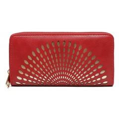 Dámská velká peněženka na zip červená Cavaldi YYXB-04
